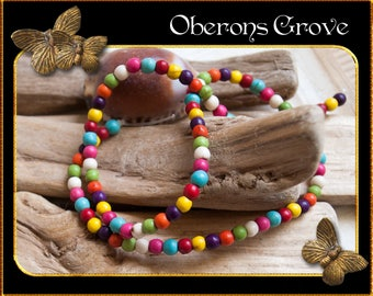 1 string of multicoloured Magnesite Beads 4mm