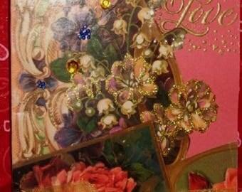 "Handmade Valentine's Day Card ""Love"""
