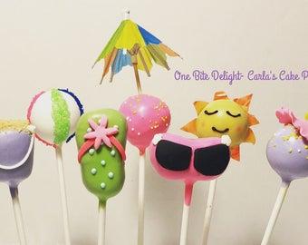 Beach Time Cake Pops/ 12 pops