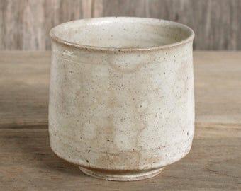 Handmade Ceramics, Brown Cup. Japanese Ceramics, Ceramic Cup, Yunomi, Matcha Chawan, Beige Cup, Serving Cup, Made In Japan.