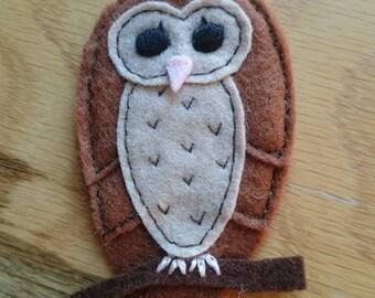 Tawny Owl brooch