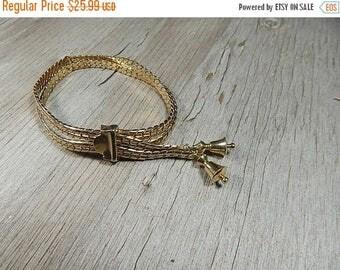 SALE Vintage Gold Bracelet 1930-40s Slide Bracelet Gold Plate or Fill