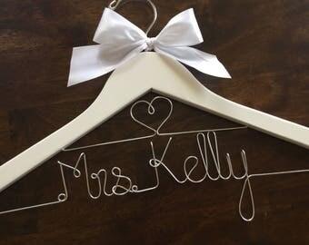 CYBER SALE Wedding hanger, double row, Bride hanger, Bridesmaid hanger, Personalized wedding hanger, Wedding dress hanger, Custom hangers
