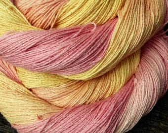 RAW SILK 4ply / fingering / laceweight, Pure Silk, 100 gms 550 mts Mollycoddle Yarns, hand dyed.
