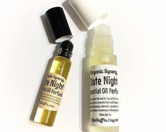 DATE NIGHT Synergy Scents - Essential Oil Natural Perfume - Sweet Orange, Patchouli, Ylang Ylang, Sandalwood, Jasmine.