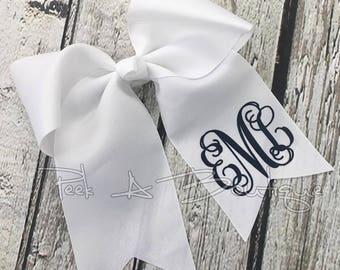 Ponytail monogrammed bow