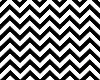 SHIPS SAME DAY Black and White Outdoor Fabric, Chevron Outdoor Fabric, Zig Zag Black Outdoor Fabric, Upholstery Fabric - Fabric by the yard