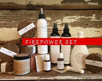 FIREPOWER Set || relieving eczema and psoriasis symptoms || safe & soothing || sensitive skin  || effective || medicinal plants || pure