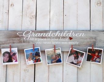 Grandchildren Photo Display, grandparent, grandchildren, grankids, mother's day, gift, photo, frame, picture, photo display board, display