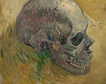 Skull (Side) (Artist: Vincent Van Gogh) c. 1887 - Masterpiece Classic (Art Print - Multiple Sizes Available)