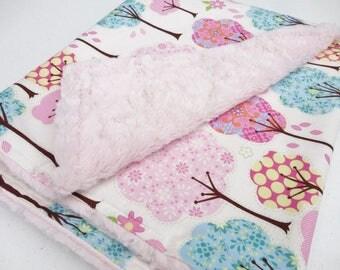 Trees Minky Baby Blanket - Ready to Ship