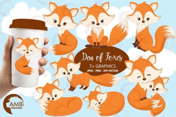 fox clip art cute fox clipart fox love clipart mother and baby