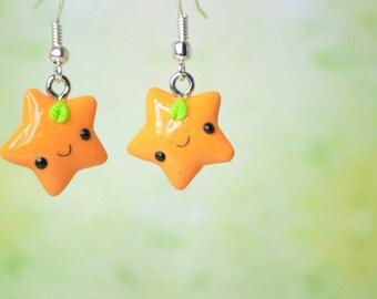 Kawaii Orange Stars