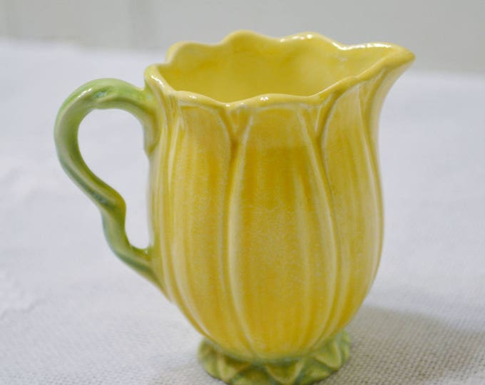 Vintage Sylvac Creamer Yellow Flower Daisy Small Pitcher Jug England PanchosPorch