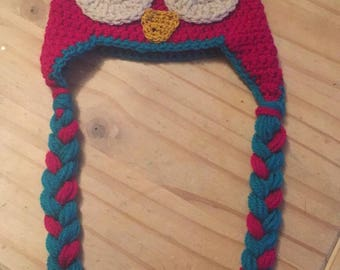 Baby/childs owl hat age 9-12 months