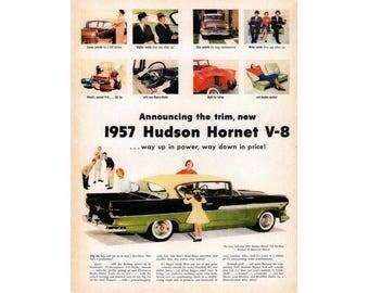Vintage Poster advertisement  of a 1957 Hudson Hornet - 32