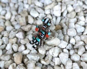 GB Natachu Zuni inlay Rainbow Man Ring
