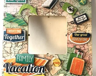 Vacation/Family trip/Holiday/Family time /Road trip/Summertime /Picture Frame