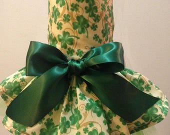 St. Patrick's Day Shamrocks Galore Dog Dress