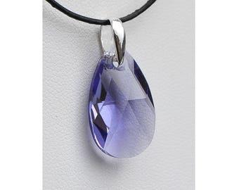 SWAROVSKI Crystal purple almond/TA22 925 Silver Pendant