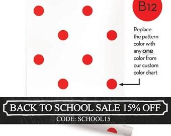 Polka Dot Custom Color Peel & Stick Fabric Wallpaper Repositionable
