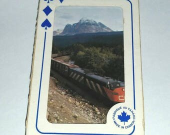Vintage CN Rail TRAIN Cards Canadian National Railway Playing Cards Canadiana Deck of Cards Railroad Ephemera CN  Memorabilia Engineer Gift