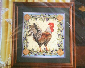 Plaid Bucilla Counted Cross Stitch Kit Rooster Nancy Rossi Tri Lingual Instructions Chart h13