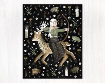 garden warrior postcard