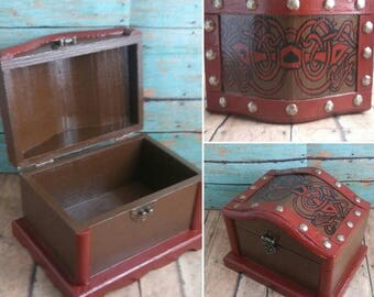 Hand Painted Jewelry Box - Treasure Chest