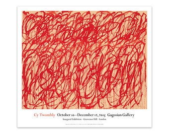 CY TWOMBLY - 'Bacchus' original exhibition poster - c2015 (Gagosian Gallery, London)