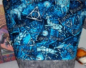 Harry Potter WIP Project Bag Expectus Patronus, Dumbledorf's Army, Dealthy Hollows, Hogwarts Drawstring or Zipper Tote bag, Always