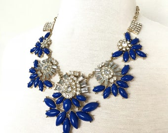 Massive Blue Bib Necklace