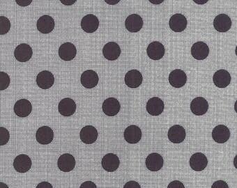 In Stock JEN KINGWELL New 2017 CIRCULUS Polka Dots )in Black Moda Fabric