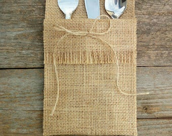 Silverware holder Cutlery tray Rustic cutlery holder Set of jute cutlery Wedding lace Rustic wedding Cutlery set Decoration wedding