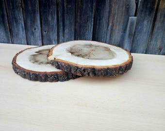 "20 slices of rustic wood 12"" Tree Slice of decoration Rustic wedding 12"" Round wooden disks"