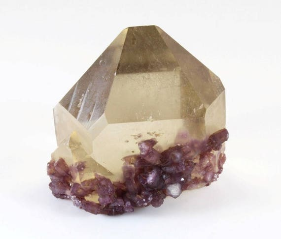 Citrine Point with Lepidolite Crystals, M-1139
