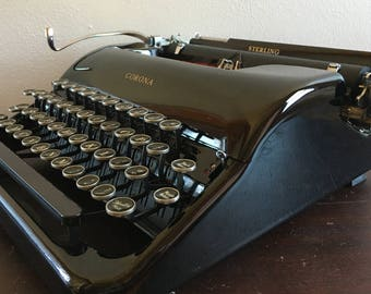 1939 Corona Sterling Typewriter