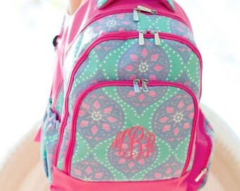 Monogram Backpack and lunchbox, Marlee Backpack, Embroidered Backpack, Elementary backpack, personalized backpack