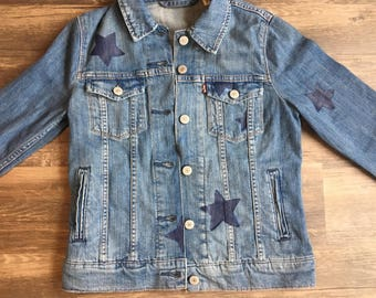 KIDS custom star denim jacket