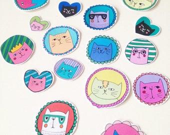 super cool cat sticker pack!