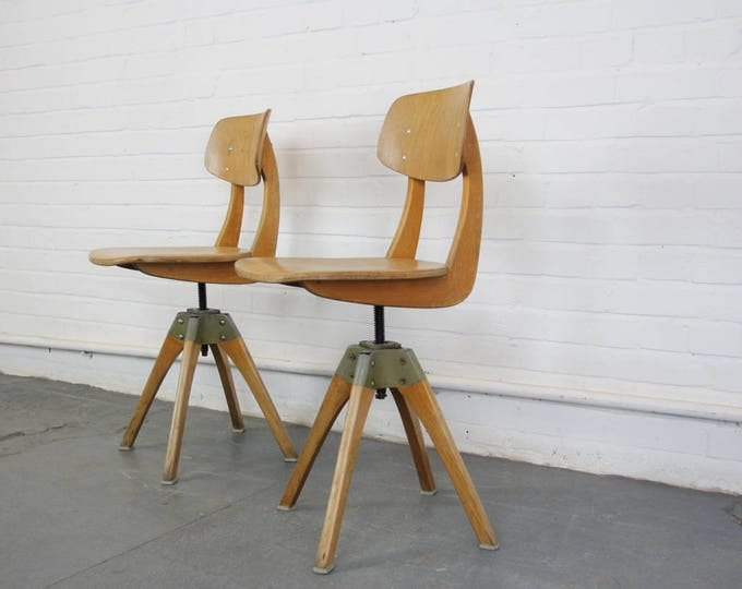 Mid Century Beech Casala Chairs Circa 1950s