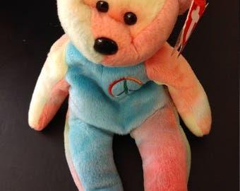 Peace the Bear - Ty Beanie Babies - 1996 (Spring Bear - #115)