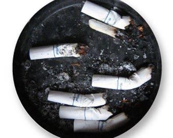 1 cabochon 25mm metal ashtray