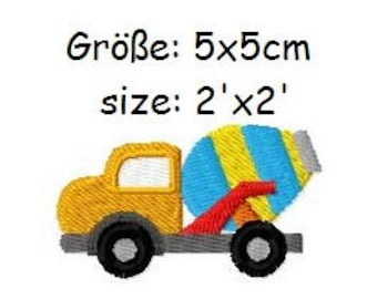 Embroidery Design Cement Mixer 2'x2' - DIGITAL DOWNLOAD PRODUCT