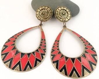 Boho Stud Drop Earrings.