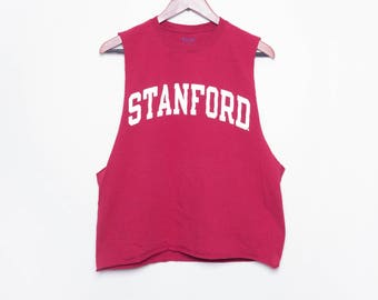90s Muscle Tank Top Tee \\ Stanford shirt \\ College tshirt \\ Gym Muscle Tank \\ muscle tank top \\ Burgundy Tee