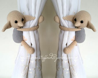 A pair of Dobby House Elf Curtain Tiebacks,(Both sides)  MADE TO ORDER..