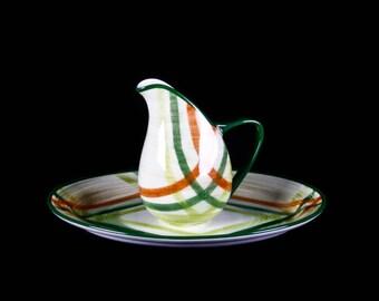 "1950s Vernonware ""Tam O'Shanter"" Pitcher and Platter"