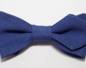 Royal Blue bowtie with sharp edges