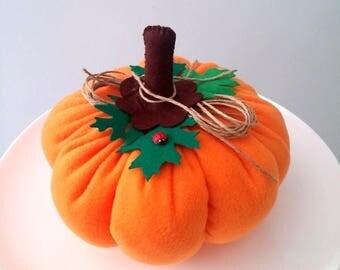 Halloween Pumpkin, Fabric Pumpkin, Fall and Halloween Decor , Autumn Decor, Farmhouse Decor, Decorative Pumpkin